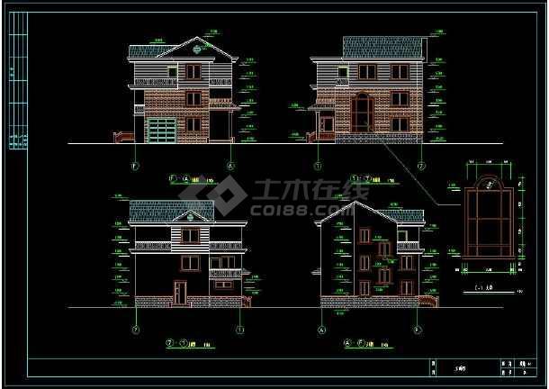 简单实用的新型农村图纸cad设计住宅(含设计说图纸纸冲浪飞机图片