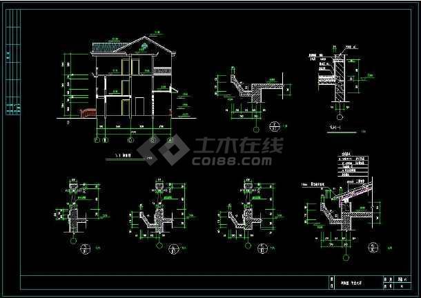 简单实用的新型住宅目录cad设计图纸(含设计说矿建竣工图图纸农村图片
