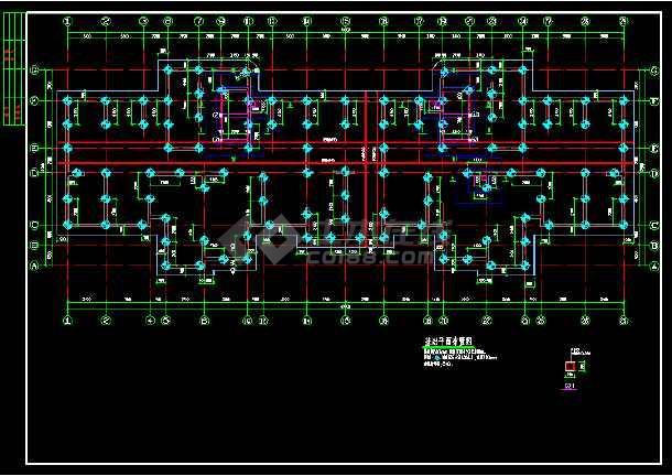 抗震二级高层剪力墙cad结构方案图纸-图1