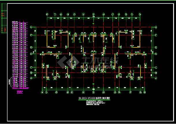 抗震二级高层剪力墙cad结构方案图纸-图3