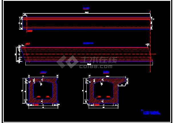 某16米先张法预应力混凝土桥板cad结构方案图纸-图1