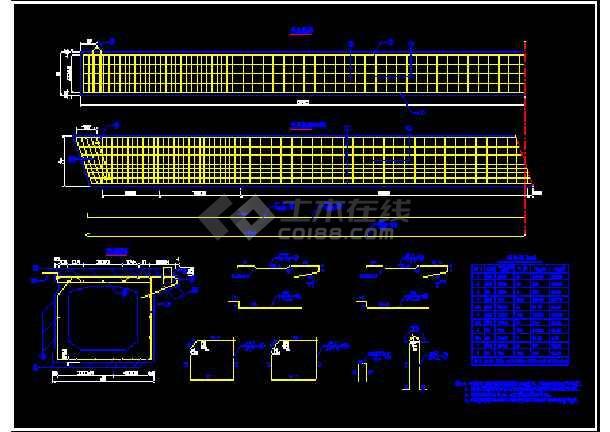 某16米先张法预应力混凝土桥板cad结构方案图纸-图3