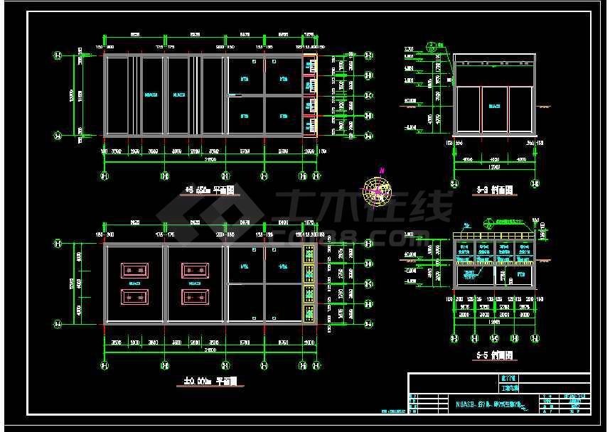 大型食品厂污水处理厂施工图cad-图1