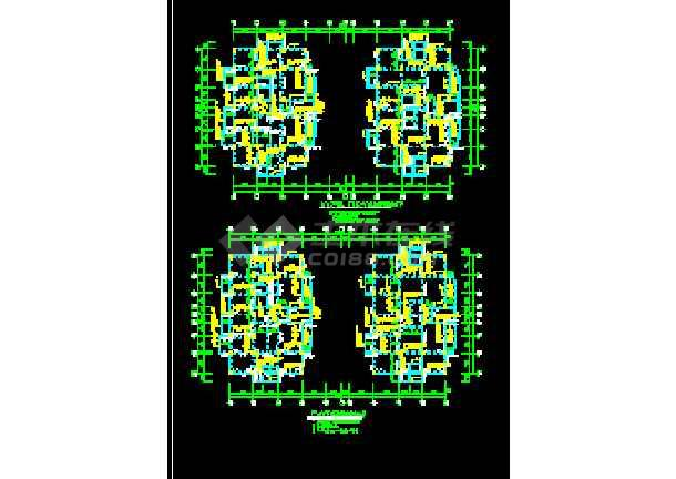 温岭街框架结构CAD平面设计施工图-图2