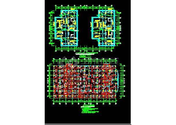 温岭街框架结构CAD平面设计施工图-图3