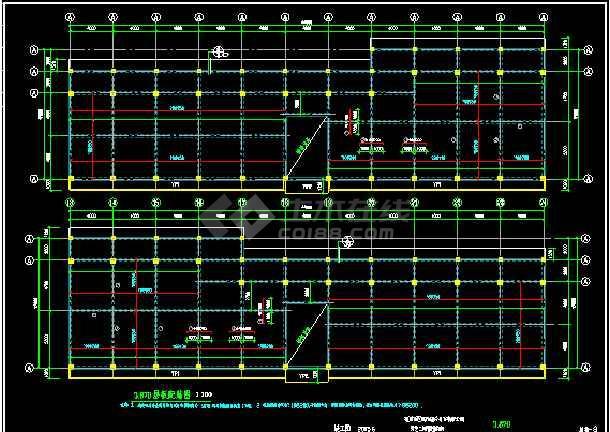 三层管理用房CAD平面设计施工图纸-图1