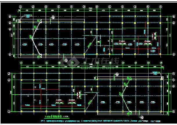 三层管理用房CAD平面设计施工图纸-图2