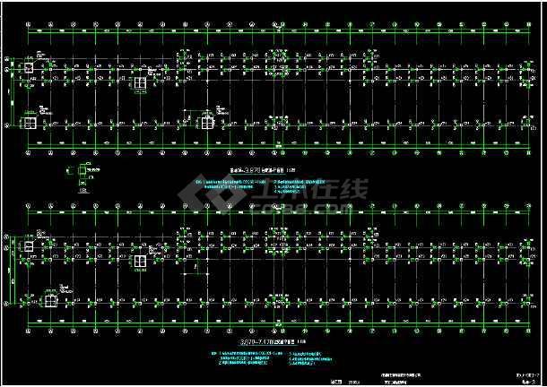 三层管理用房CAD平面设计施工图纸-图3