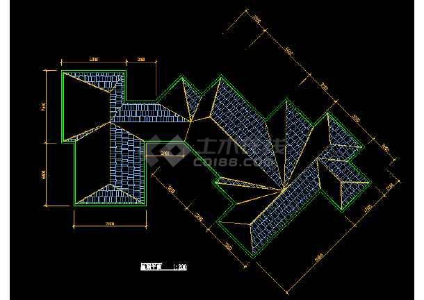 某市区会馆建筑CAD设计详细图纸-图1