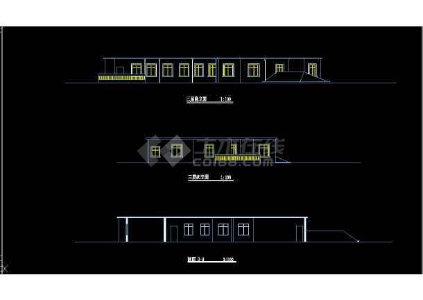 某市区会馆建筑CAD设计详细图纸-图2