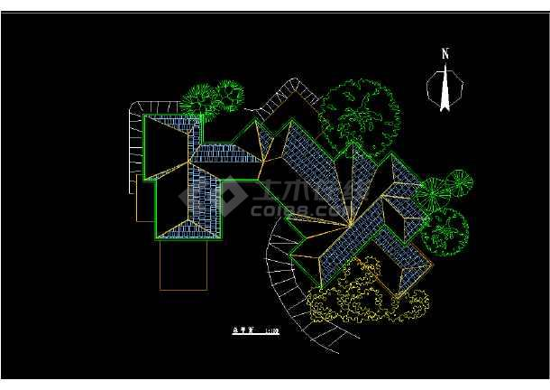 某市区会馆建筑CAD设计详细图纸-图3