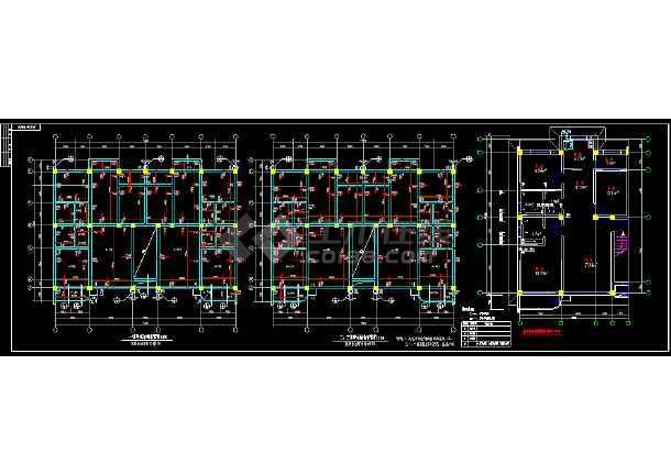 生态园区建筑工程结构CAD平面施工图-图3
