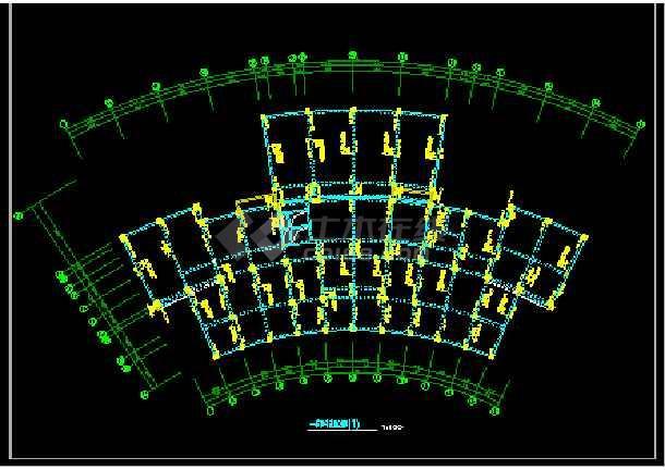 检察院综合楼CAD平立剖面结构施工图-图1