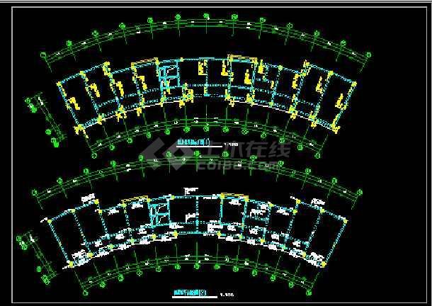 检察院综合楼CAD平立剖面结构施工图-图2