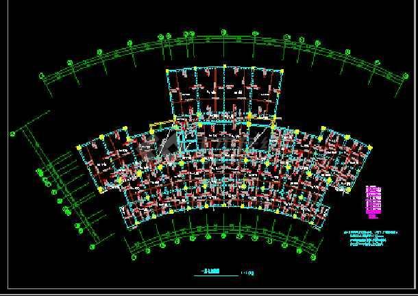 检察院综合楼CAD平立剖面结构施工图-图3
