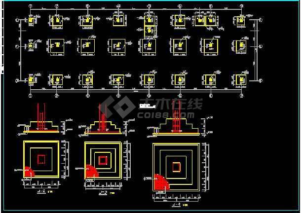 某房地产公司框架结构综合楼CAD平面设计图-图1