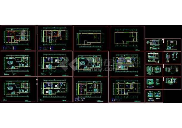 整套图纸楼CADv图纸装修施工图纸创维-80002522a机芯5p20复式图片