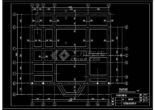 实木北美式别墅建筑设计cad工程结构图-图1