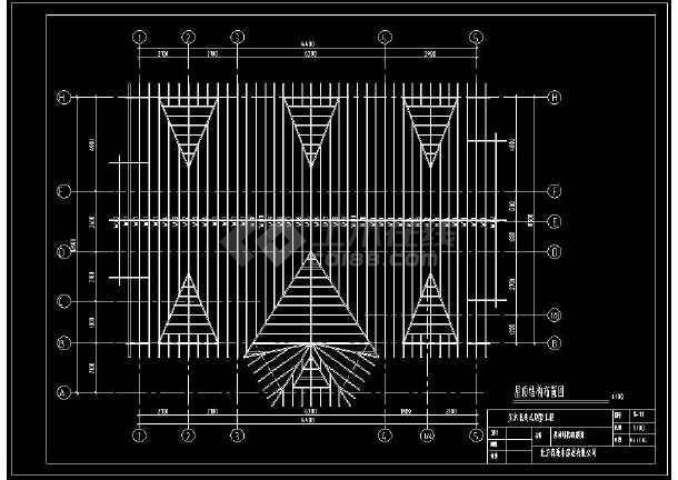 实木北美式别墅建筑设计cad工程结构图-图3