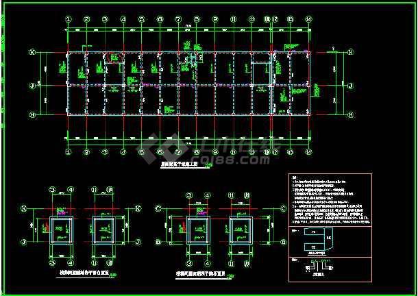 上海某贸易中心结构CAD平面设计施工图-图3
