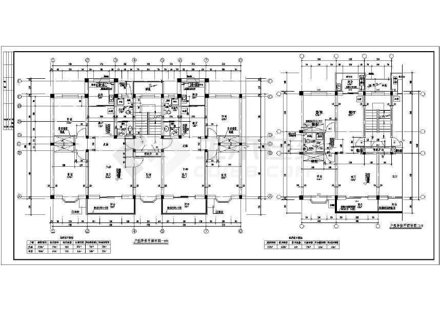 某地多层住宅楼建筑施工图(标注详细)