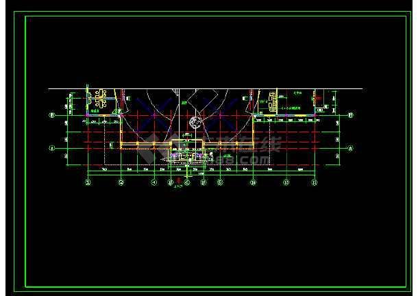 汽车展厅装饰cad设计施工方案图-图1