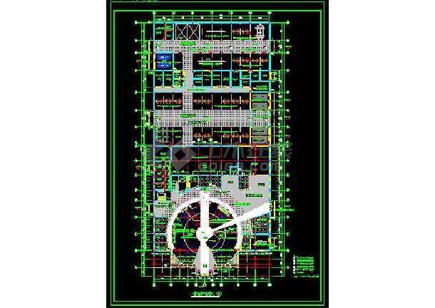 汽车展厅装饰cad设计施工方案图-图3