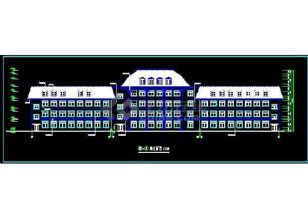 某市多层办公楼建筑CAD设计施工图纸-图3