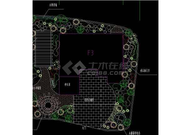 某小区别墅园林规划设计CAD平面图-图1
