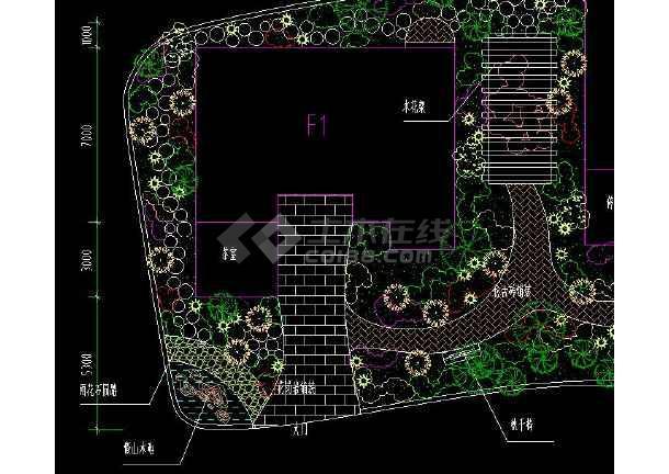某小区别墅园林规划设计CAD平面图-图3