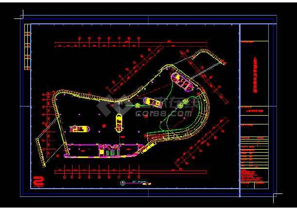 上海国际汽车博览馆cad设计方案-图1