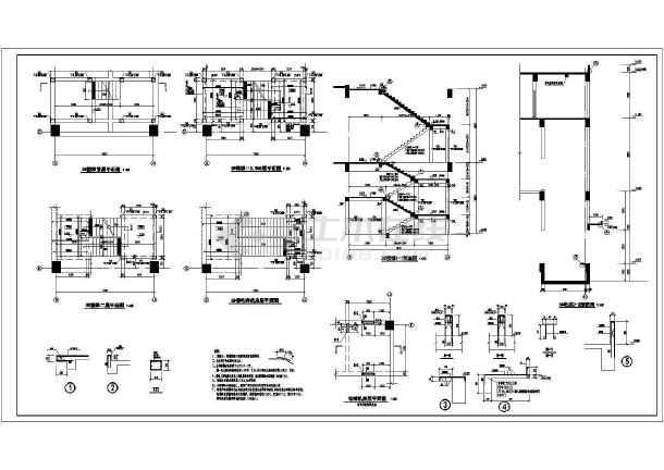 最新框架结构的电梯平面剖面详图-图2