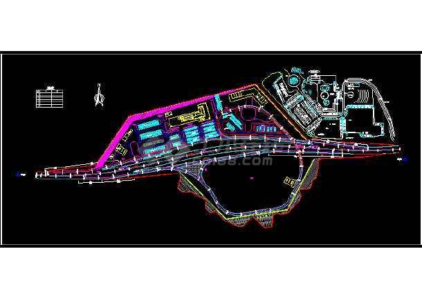 高速公路服务区设计、互通匝建筑等-图1