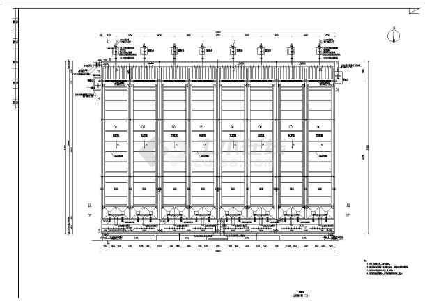 某市政污水厂初沉池工艺设计图CAD-图3