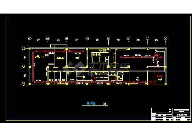 天津市某综合楼暖通设计施工CAD图-图1
