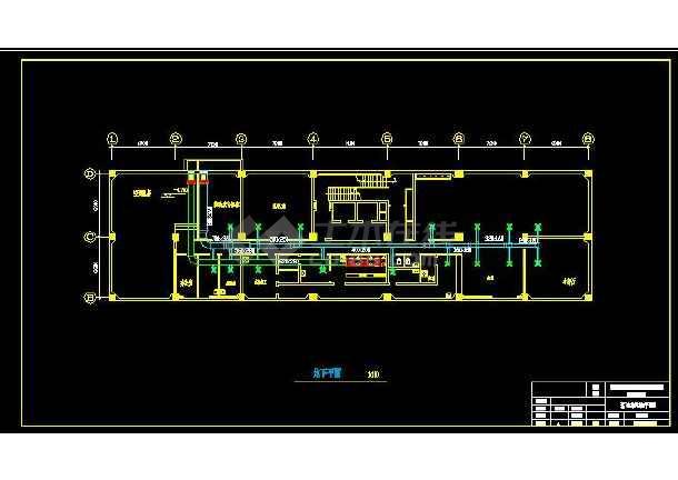 天津市某综合楼暖通设计施工CAD图-图2