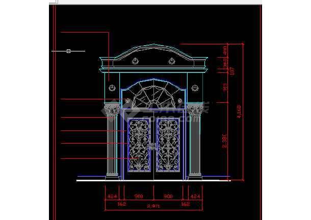 酒店办公楼建施方案设计全套CAD图纸-图2