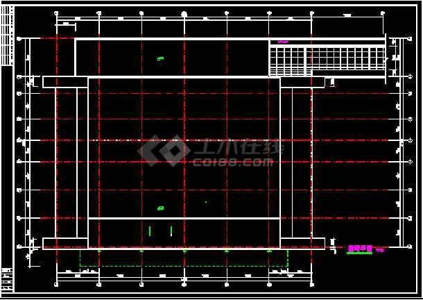 某机场大厅改造装修cad施工图纸-图2