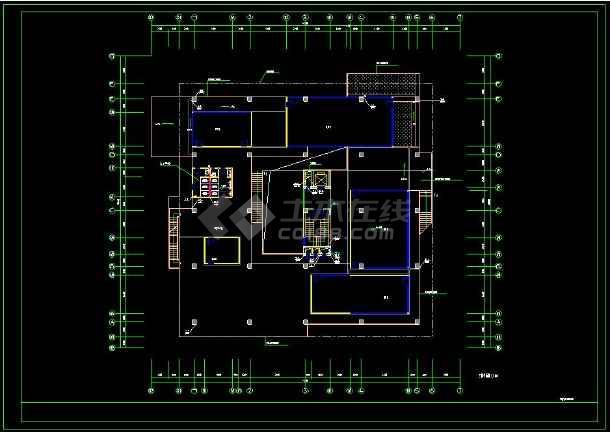 多层办公楼建筑设计CAD方案图纸(含设计说明)-图2