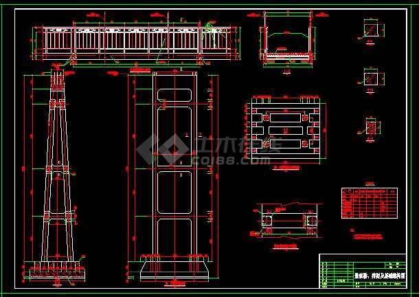 钢索桥整套技术cad设计施工大样图-图2
