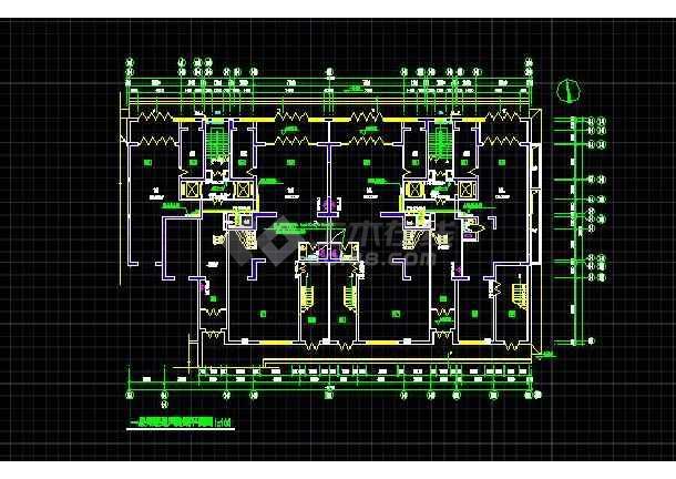 高层住宅楼采暖通风防烟平面设计CAD施工图-图1
