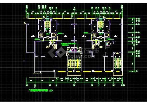 高层住宅楼采暖通风防烟平面设计CAD施工图-图3