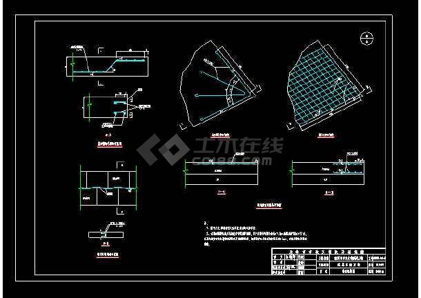 城市道路建设多种路面cad结构设计施工大样图-图3