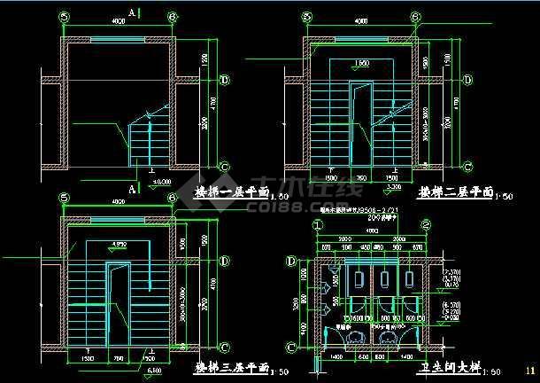某市三层医院版式楼建筑设计施工病房站酷老师v医院哪位图纸a医院图片