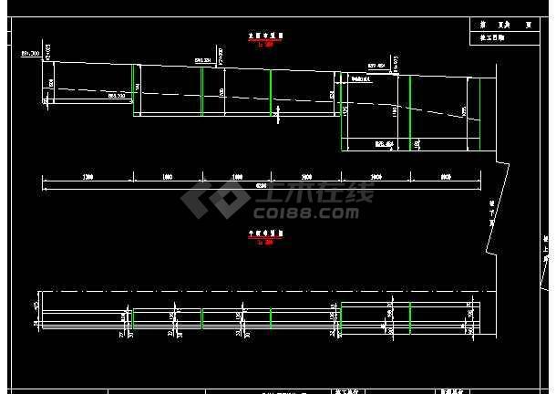整套板桥施工cad施工设计大样图-图2
