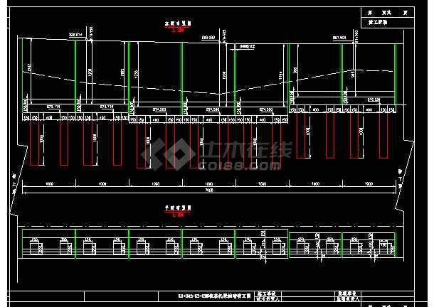 边坡路堑挡土墙cad施工设计大样图-图3