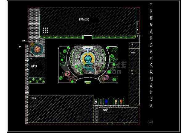 某办公楼前详细绿化CAD设计平面图-图2