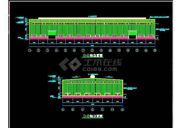 南安某工程方案结构CAD设计施工图纸-图1