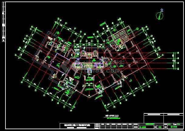 上海高层住宅楼中央空调系统施工图-图3