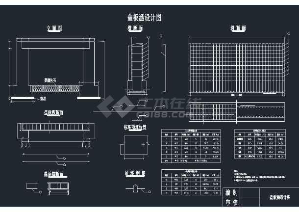 路基盖板涵结构设计CAD图纸-图1